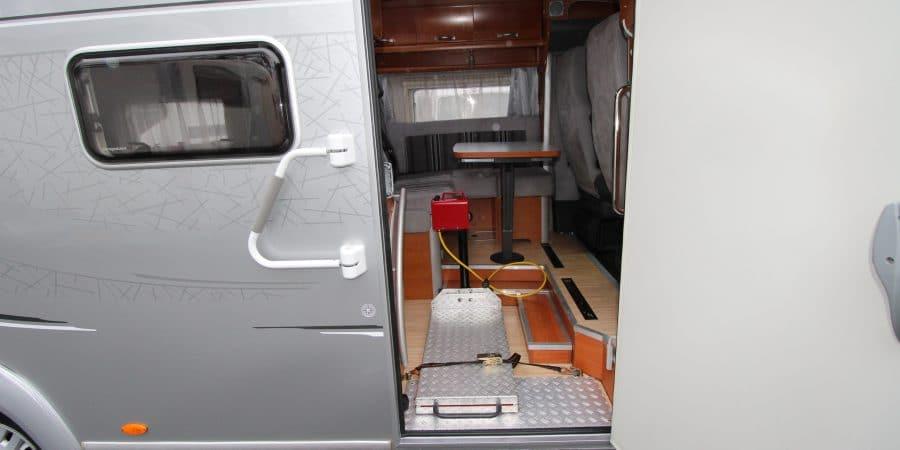 Camper aanpassingen voor invaliden of mensen met een beperking.